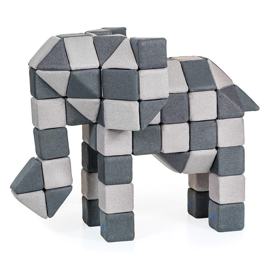 słoń ułożony z klocków jolly heap
