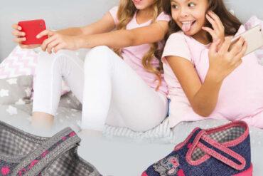 dziewczynki i buciki z najnowszej kolekcji