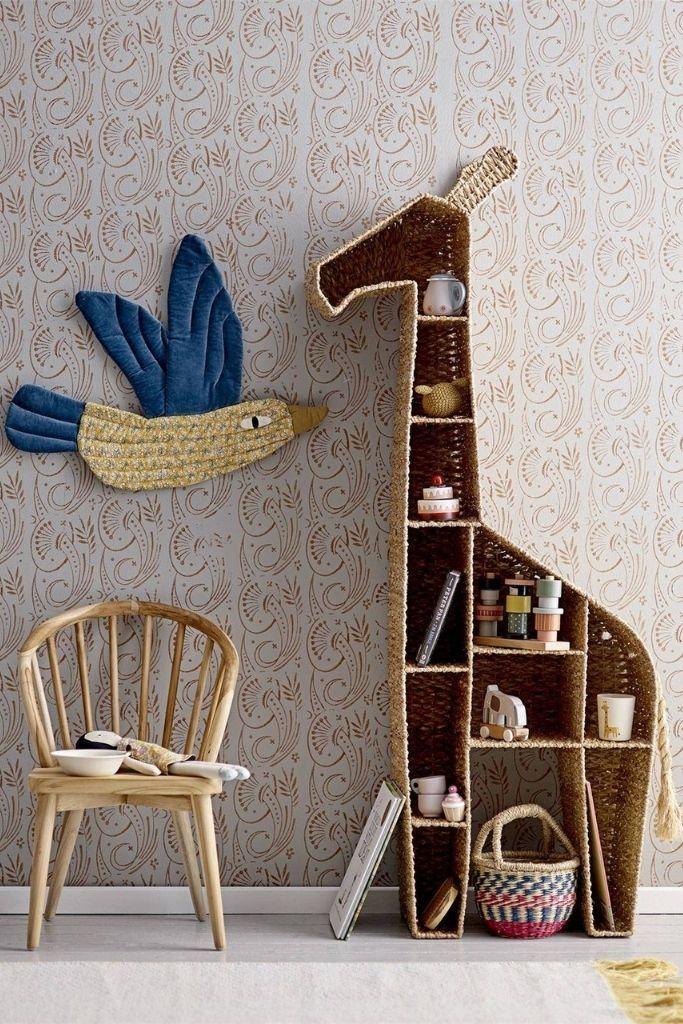 regał w kształcie żyrafy meble skandynawskie dla dzieci