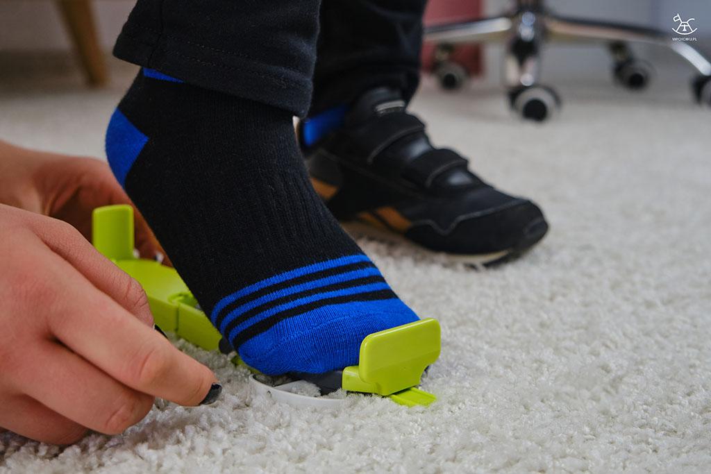 dopasowywanie stopy do urządzenia pomiarowego