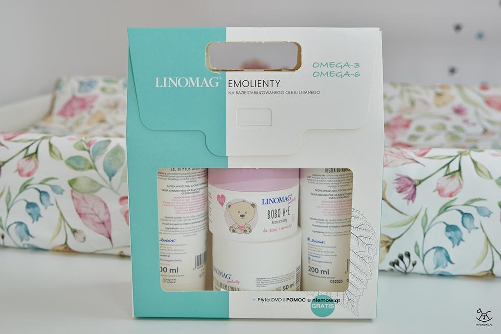 wyprawka z kosmetykami dla niemowląt w kartonowym pudełku