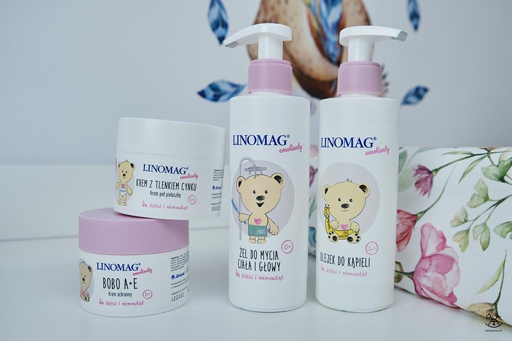 zestaw kosmetyków dla niemowląt na przewijaku